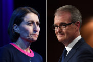 Premier Gladys Berejiklian and Labor leader Michael Daley