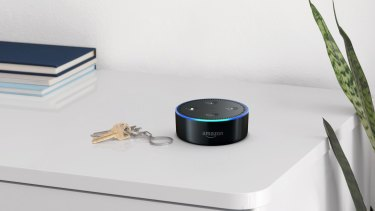 The smaller smart speaker, Echo Dot.