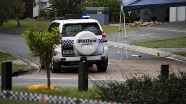 Police cordoned off a large area around the Wakerley home where the shooting unfolded.