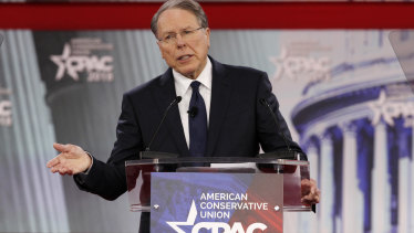 National Rifle Association chief executive Wayne LaPierre said the way to stop a bad guy with a gun was to have a good guy with a gun.