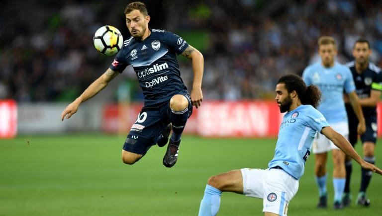 James Troisi (left) has had a tough season with Melbourne Victory.