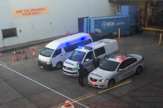 Alleged paedophile Malka Leifer's plane lands as police carswait on tarmac