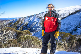 Billy Barker is head of ski patrol at Mount Hotham. He also writes all the weather reports for the resort. Pictured in June, 2016.