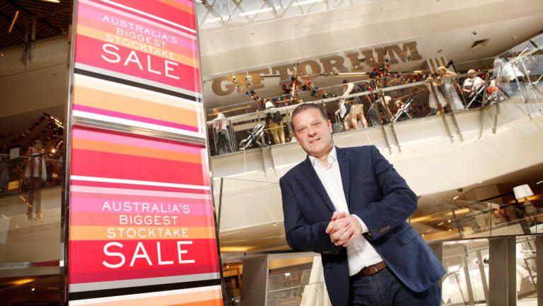 Myer's Tony Sutton had big hopes for the Boxing Day sales, with queues in Melbourne at 2am on Tuesday.