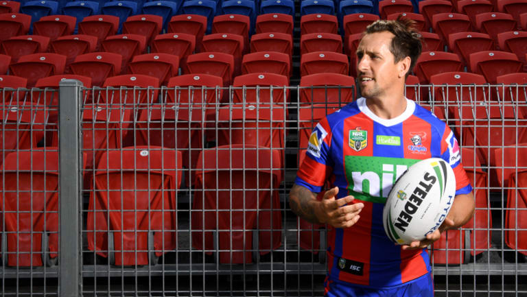 Happy hunter: Those close to Mitchell Pearce say he is thriving away from the big smoke of Sydney.