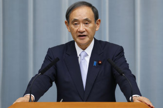 Japan's Chief Cabinet Secretary Yoshihide Suga.