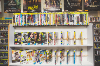 The Australian film section at Canberra's last DVD rental store, Network Video Charnwood.