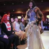 Melissa Davis, 22, models #MeToo fashion during Fashion Week.