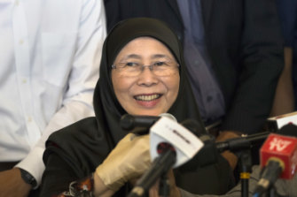 Wan Azizah Wan Ismail, the wife of Anwar Ibrahim and now Malaysia's deputy PM.