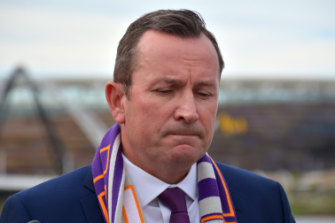 Premier Mark McGowan on Sunday distancing his state Labor government from Bill Shorten's campaign.