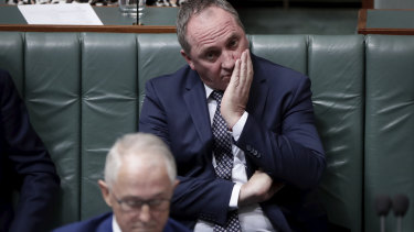 Sources say Deputy Prime Minister Barnaby Joyce, pictured on Monday, will hang on to his position if no new scandals emerge.
