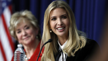 Ivanka Trump and Linda McMahon, administrator of the U.S. Small Business Administration, during a recent panel, 'Conversations with Women of America'.