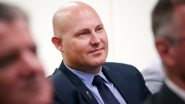 Speaker-designate Curtis Pitt at the Labor caucus meeting on Monday.
