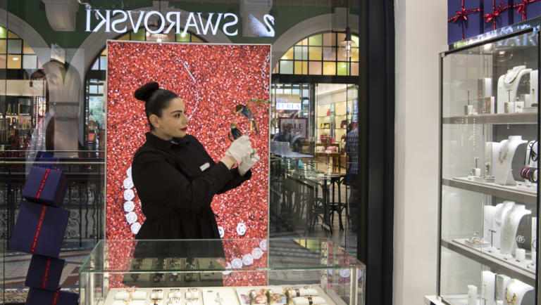 Marie-Anne Moutrage said it wasn't as busy at the Swarovski store compared to last year, but was optimistic.