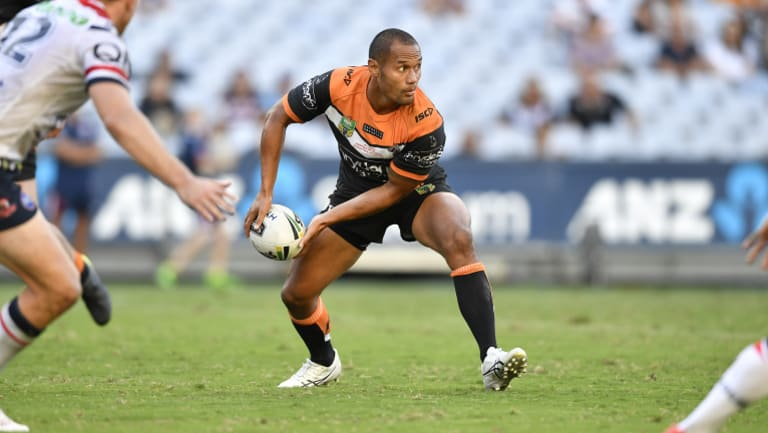 Flying high: Wests Tigers recruit Pita Godinet is relishing his chance at the big time.