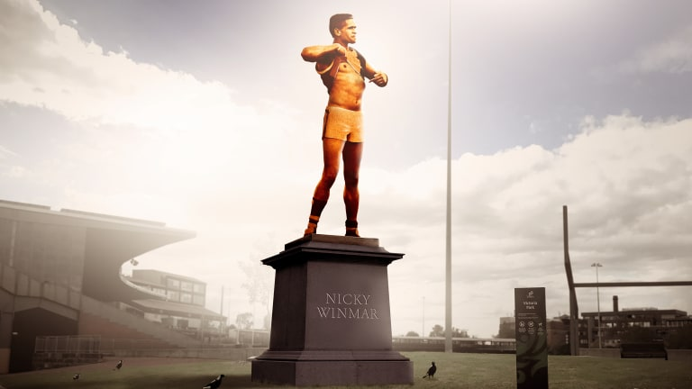 A crowd funding campaign has been launched to raise funds to create a statue of the iconic moment.
