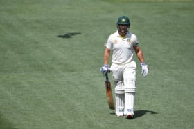 Opener Aaron Finch is under pressure for his place after failing twice in his first Test on home soil.