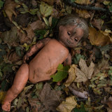 Abandoned toys litter the abandoned towns and villages within the Chernobyl exclusion zone.
