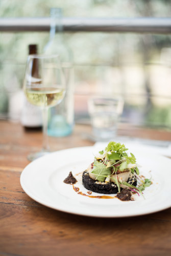 Fine food at Morrisons Riverview Winery in Echuca, Victoria.