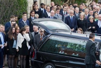 Stuart Kelly's funeral at The King's School, Parramatta.