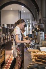 Staff at Plantation Coffee at work.