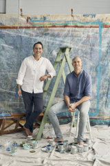 Wippa, at left, and Fitzy are noted for their humour but take fatherhood seriously … most of the time.