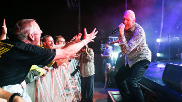 Peter Garrett gets close to his fans.