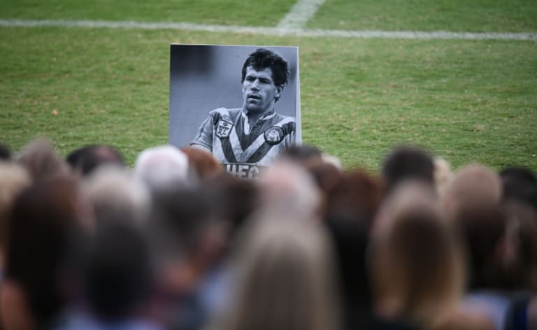 Steve Folkes is remembered by mourners.