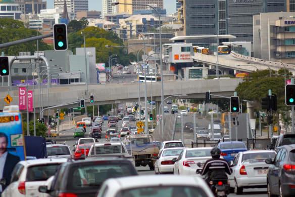 See how Brisbane's main roads fare in peak hour