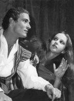 A young Andrew McLennan in a production of The Tempest with Alison Bauld in 1963.