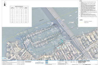 The proposed expansion to the Gladesville Bridge Marina in Drummoyne.