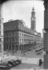 The GPO Building with clock tower.