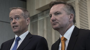 All change: Labor's Bill Shorten and Chris Bowen.