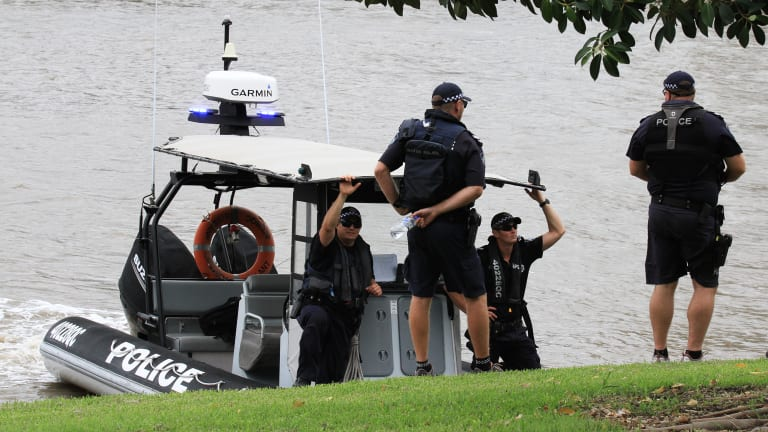 Water police continue the search.