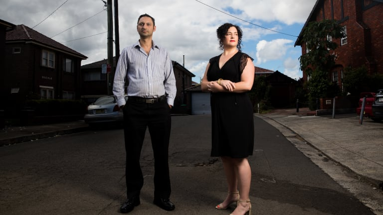 David Luciano and Deb Fernon are angry with the night works that NBNCo workers has been doing in their Ashfield street.