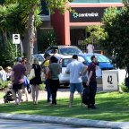 People line up at Centrelink in Perth this week.