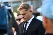 St George Illawarra Dragons player Jack de Belin has pleaded not guilty to sexual assault.