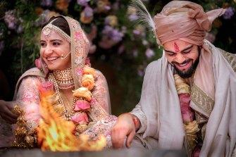 Virat Kohli and Anushka Sharma shared photos of their wedding last December with millions of fans.