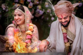 Virat Kohli and Anushka Sharma shared photos of their wedding last December with millions of fans.