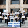 'This is what they do': Chinese consulate officials accused of monitoring, filming Perth anti-China protest