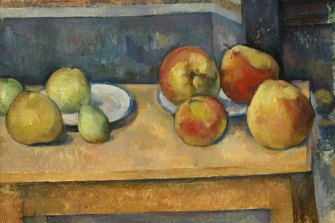 On display in Brisbane: Paul Cézanne 'Still Life with Apples and Pears', c1891–92.