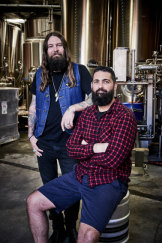 It's 'Newtown meets Fyshwick' in new winter ale, Jack Froth. Young Henrys brewery owners Oscar McMahon and Dan Hamptonwill launch the beerat a party at Transit Bar on July 14.