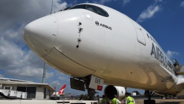 Airbus' ultra-long haul aircraft are able to fly further due to their light-weight carbon-fibre composite fuselage.