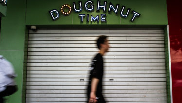 The Doughnut Time store in Albert Street, Brisbane, was closed on Sunday, March 4, 2018
