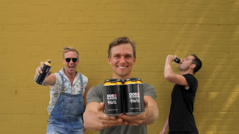 East 9th Brewing founders Josh Lefers, Stephen Wools and Benjamin Cairns.