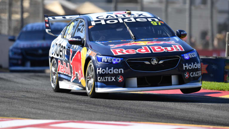 Lined up: Shane van Gisbergen blitzed the field to take pole position ahead of Race one.