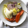 Neil Perry's corned silverside with mustard sauce