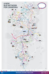 The proposed new bus network.