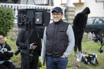 Anthony Russo pictured on the set of Cherry.