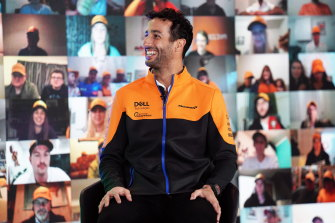 Daniel Ricciardo, pictured at his car unveiling, has high hopes with new team McLaren.